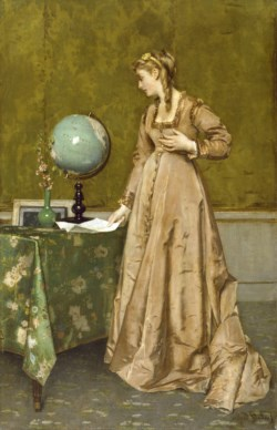 WALTERS: Alfred Stevens (Belgian, 1823-1906): News from Afar 1860