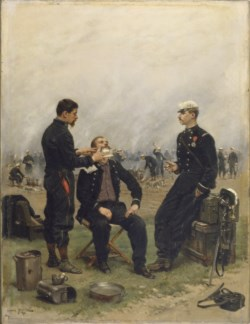 WALTERS: Jean Baptiste Edouard Detaille (French, 1848-1912): The Camp Barber 1876