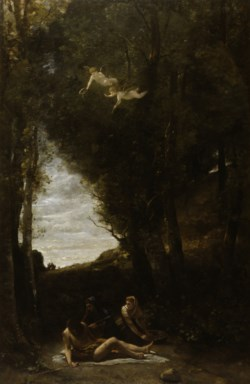 WALTERS: Jean-Baptiste-Camille Corot (French, 1796-1875): St. Sebastian Succoured by Holy Women 1851