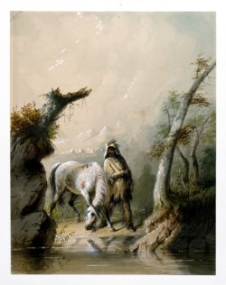 WALTERS: Alfred Jacob Miller (American, 1810-1874): Auguste and His Horse 1858