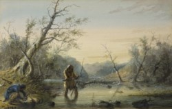 WALTERS: Alfred Jacob Miller (American, 1810-1874): Trapping Beaver 1858