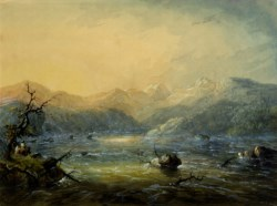 WALTERS: Alfred Jacob Miller (American, 1810-1874): The Mountain Torrent 1858