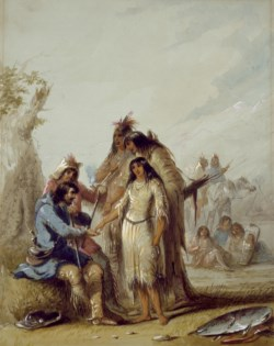 WALTERS: Alfred Jacob Miller (American, 1810-1874): The Trapper's Bride 1858