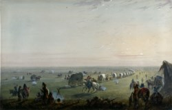 WALTERS: Alfred Jacob Miller (American, 1810-1874): Breaking up Camp at Sunrise 1858