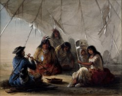 WALTERS: Alfred Jacob Miller (American, 1810-1874): Indian Hospitality 1858
