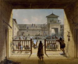 WALTERS: Alfred Jacob Miller (American, 1810-1874): Interior of Fort Laramie 1858