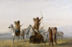 WALTERS: Alfred Jacob Miller (American, 1810-1874): Yell of Triumph 1858
