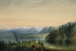 WALTERS: Alfred Jacob Miller (American, 1810-1874): Wind River Chain 1858