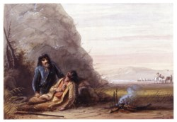 WALTERS: Alfred Jacob Miller (American, 1810-1874): Free Trappers in Trouble 1858