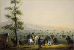 WALTERS: Alfred Jacob Miller (American, 1810-1874): Our Camp 1858