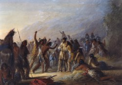 WALTERS: Alfred Jacob Miller (American, 1810-1874): Attack by Crow Indians 1858