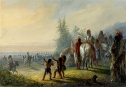 WALTERS: Alfred Jacob Miller (American, 1810-1874): Moving Camp 1858