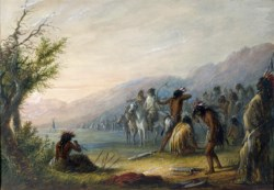 WALTERS: Alfred Jacob Miller (American, 1810-1874): Indians Testing Their Bows 1858