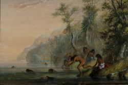 WALTERS: Alfred Jacob Miller (American, 1810-1874): Indian Women: Swimming 1858
