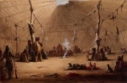 WALTERS: Alfred Jacob Miller (American, 1810-1874): Indian Lodge 1858