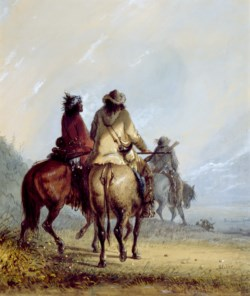 WALTERS: Alfred Jacob Miller (American, 1810-1874): Trappers Starting for the Beaver Hunt 1858