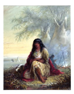 WALTERS: Alfred Jacob Miller (American, 1810-1874): Indian Girl (Sioux) 1858