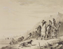 WALTERS: Alfred Jacob Miller (American, 1810-1874): Pawnee Indians Migrating 1858