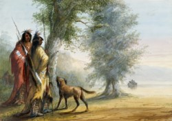 WALTERS: Alfred Jacob Miller (American, 1810-1874): Indians Watching a Canoe 1858