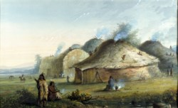 WALTERS: Alfred Jacob Miller (American, 1810-1874): Indian Lodges 1858