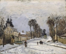 WALTERS: Camille Pissarro (French, 1831-1903): Route to Versailles, Louveciennes 1869