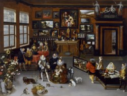 WALTERS: Hieronymus Francken II (Flemish, 1578-1623): The Archdukes Albert and Isabella Visiting a Collector's Cabinet 1609