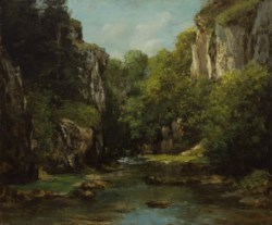 WALTERS: Gustave Courbet (French, 1819-1877): The Stream of the Black Well 1872