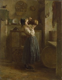 WALTERS: Pierre-Édouard Frère (French, 1819-1886): Helping Herself 1859