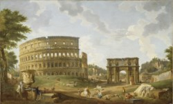 WALTERS: Giovanni Paolo Panini (Italian, ca. 1692-1765): View of the Colosseum 1747