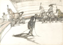 WALTERS: Henri de Toulouse-Lautrec (French, 1864-1901): At the Circus: Free Horses 1899