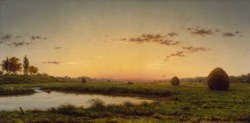 WALTERS: Martin Johnson Heade (American, 1819-1904): Haystacks on the Newburyport Marshes 1862