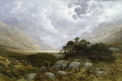 WALTERS: Gustave Doré (French, 1832-1883): Landscape in Scotland 1866