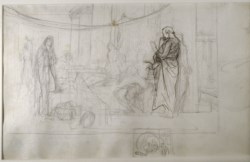 "WALTERS: Jean-Léon Gérôme (French, 1824-1904): Study for ""Socrates Looking for Alcibiades in the House of Aspasia"" 1848"