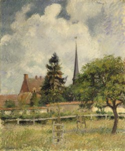 WALTERS: Camille Pissarro (French, 1831-1903): The Church at Eragny 1884