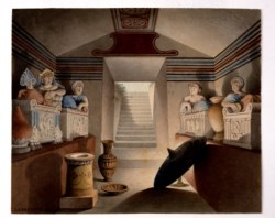 WALTERS: Henri Labrouste (French, 1801-1875): View of an Etruscan Tomb 1849