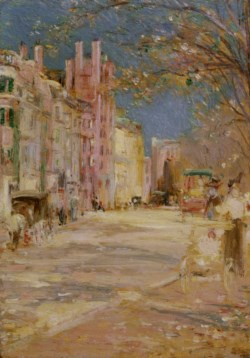 WALTERS: Edward Mitchell Bannister (American, 1828-1901): Boston Street Scene (Boston Common) 1898