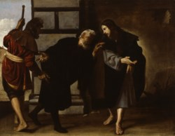 WALTERS: Alonso Cano (Spanish, 1601-1667): Christ and Two Followers on the Road to Emmaus 1635