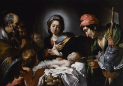 WALTERS: Bernardo Strozzi (Italian, 1584-1644): Adoration of the Shepherds 1603