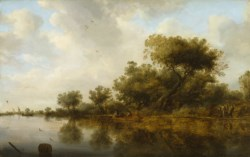 WALTERS: Salomon von Ruisdael (Dutch, ca. 1602-1670): River View with Fishermen 1633