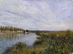 WALTERS: Alfred Sisley (French and British, 1839-1899): View of Saint-Mammès 1868