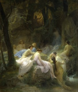 WALTERS: Charles François Jalabert (French, 1819-1901): Nymphs Listening to the Songs of Orpheus 1853