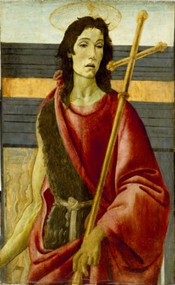 WALTERS: Workshop of Sandro Botticelli (Italian, 1444/5-1510): St. John the Baptist 1473