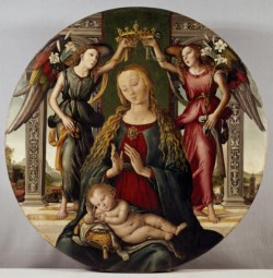 WALTERS: Master of S. Spirito (Italian, active late 15th century): Madonna and Child with Two Angels 1500