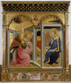 WALTERS: Stefano d'Antonio di Vanni (Italian, 1405-1483): The Annunciation 1418