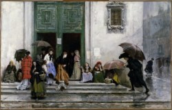 WALTERS: Raimundo de Madrazo y Garreta (Spanish, 1841-1920): Coming Out of Church 1850