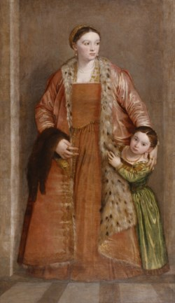 WALTERS: Paolo Veronese (Italian, 1528-1588): Portrait of Countess Livia da Porto Thiene and her Daughter Deidamia 1539