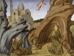 WALTERS: Marco Zoppo (Italian, ca. 1432-ca. 1478): Saint Francis Receiving the Stigmata 1446