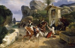 WALTERS: Horace Vernet (French, 1789-1863): Italian Brigands Surprised by Papal Troops 1831