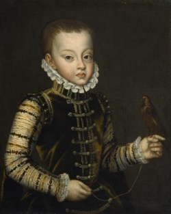 WALTERS: Alonso Sánchez Coello (Spanish, ca. 1531-1588): Portrait of Infante Ferdinand of Spain 1563