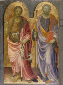 WALTERS: Giovanni di Francesco Toscani (Italian, ca.1370-1430): St. John the Baptist and St. James the Great 1420